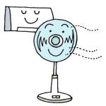 エアコンと扇風機で節電