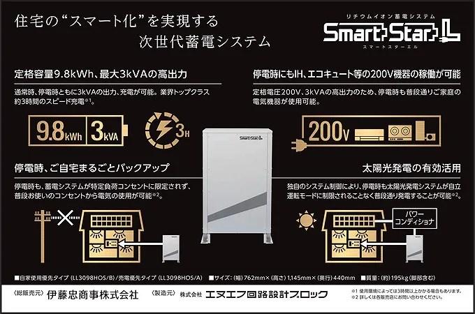 スマートスターL 大容量蓄電池