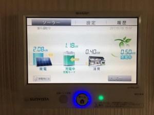 シャープ蓄電池対応発電モニター