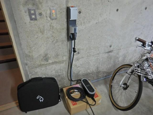 カイエンをパナソニックのEVコンセントで充電