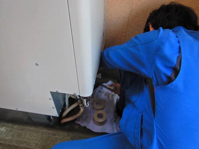 保温材の施工