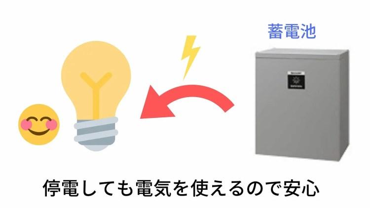 停電しても電気が使えるので安心