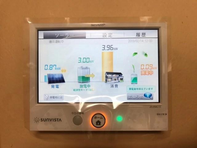 蓄電池からの放電で昼間の電気を買わない