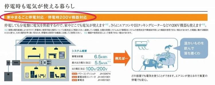 シャープ蓄電池は200Vに対応