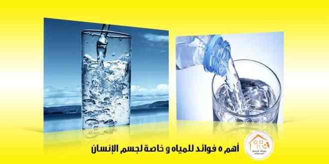 أهم 5 فوائد للمياه وخاصة لجسم الإنسان