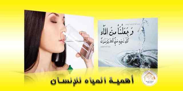 أهمية المياه للإنسان