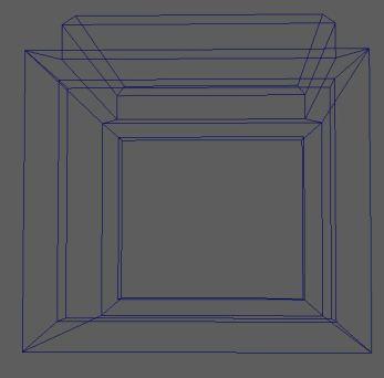 Low poly wireframe