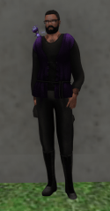 My Emissary Uniform along with my little friend who helped me out for a while.