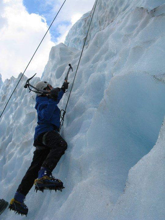 Ethan Ice Climbing in New Zealand