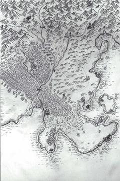 illustration, fantasy map, cartography