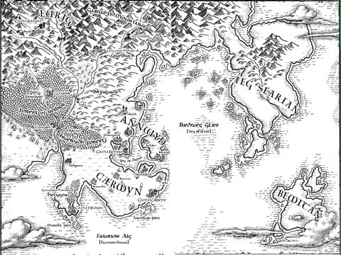 Hand Drawn Fantasy Map, Cartography