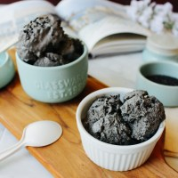 Black Sesame No-Churn Ice Cream