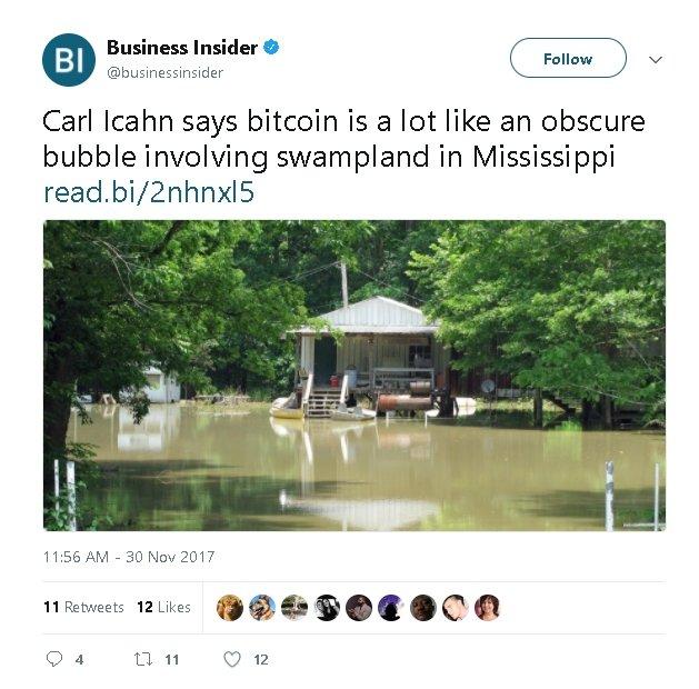 Bitcoin Bandwagon of Naysayers Grows: Carl Icahn Calls Bubble 1