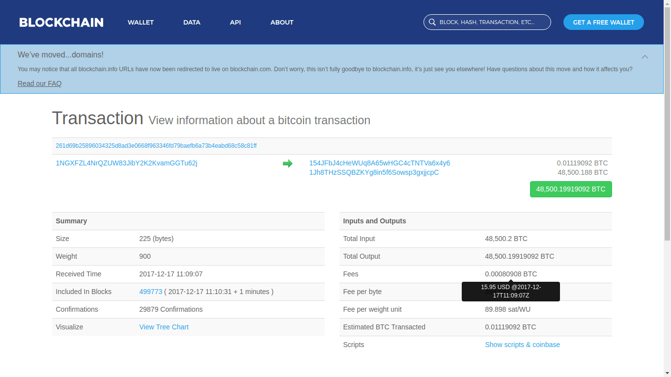 Someone Sent 300 Million USD in Bitcoin (BTC) Paying a Fee of 0.04 USD 2