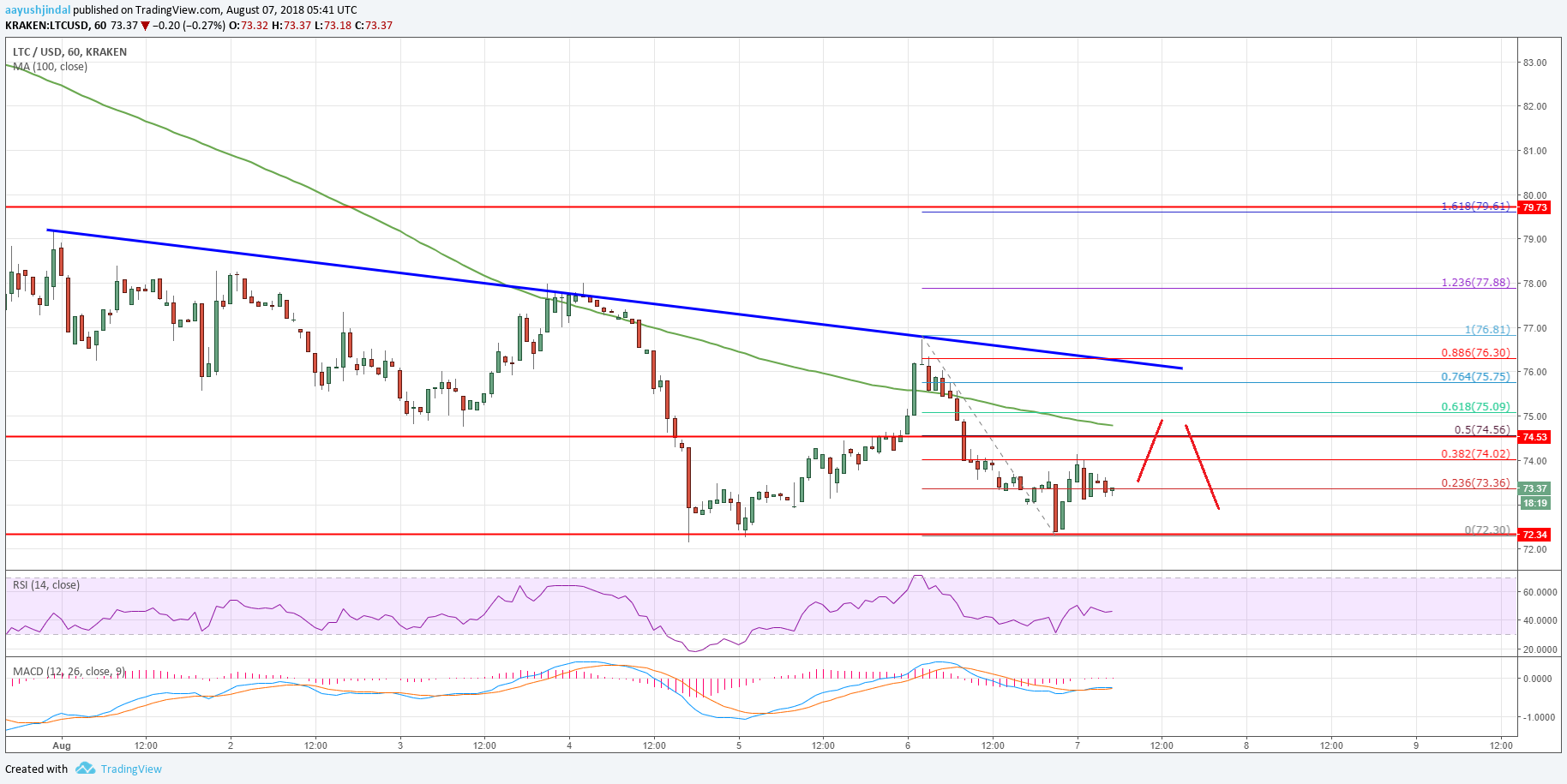 Litecoin Price Analysis LTC USD