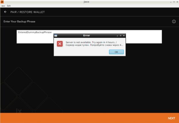 Fake Phishing Website Mimicking Jaxx Wallet Shut Down 3