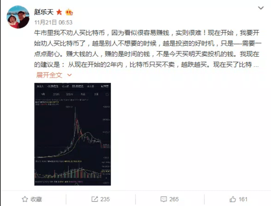 Bitcoin BTC to 50k in 3 Years. Chinese Billionaire Zhao Dong Predicts 1