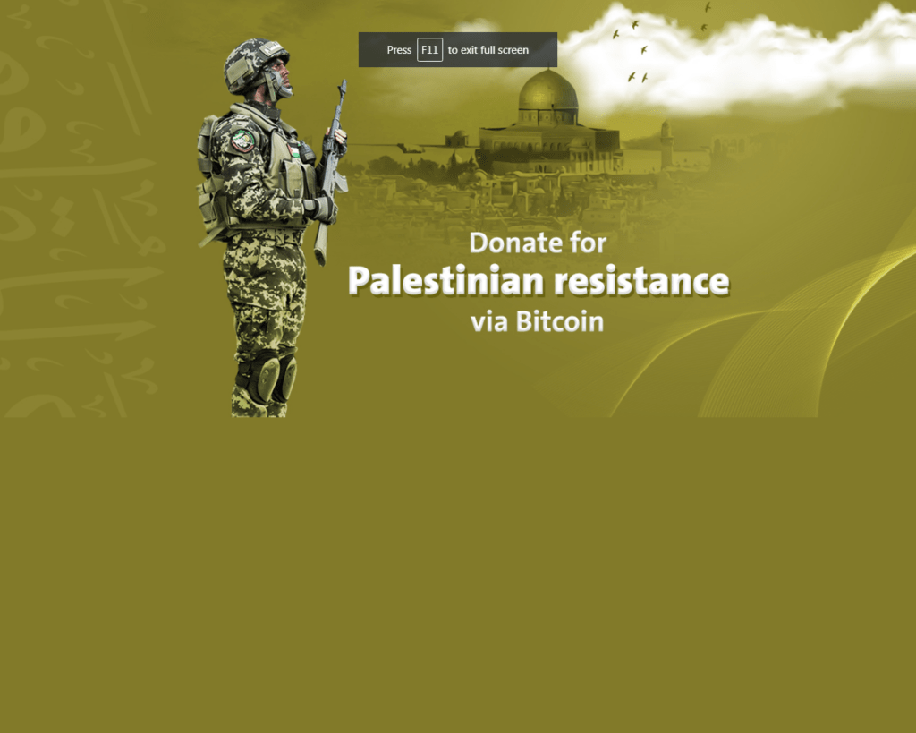 Terrorist Branch of Hamas Uses BTC to Raise Funds 1