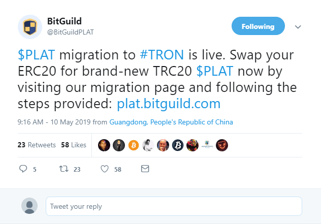 DLT Gaming Company BitGuild Ditches Ethereum, Chooses Tron Network 1