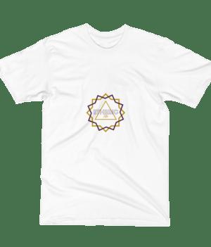 etheric life dual starburst logo tshirt white