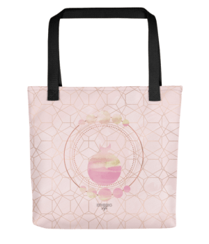 etheric life pink full moon collection tote