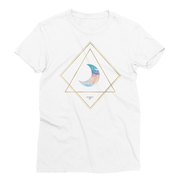 etheric life pastel quarter moon t-shirt white