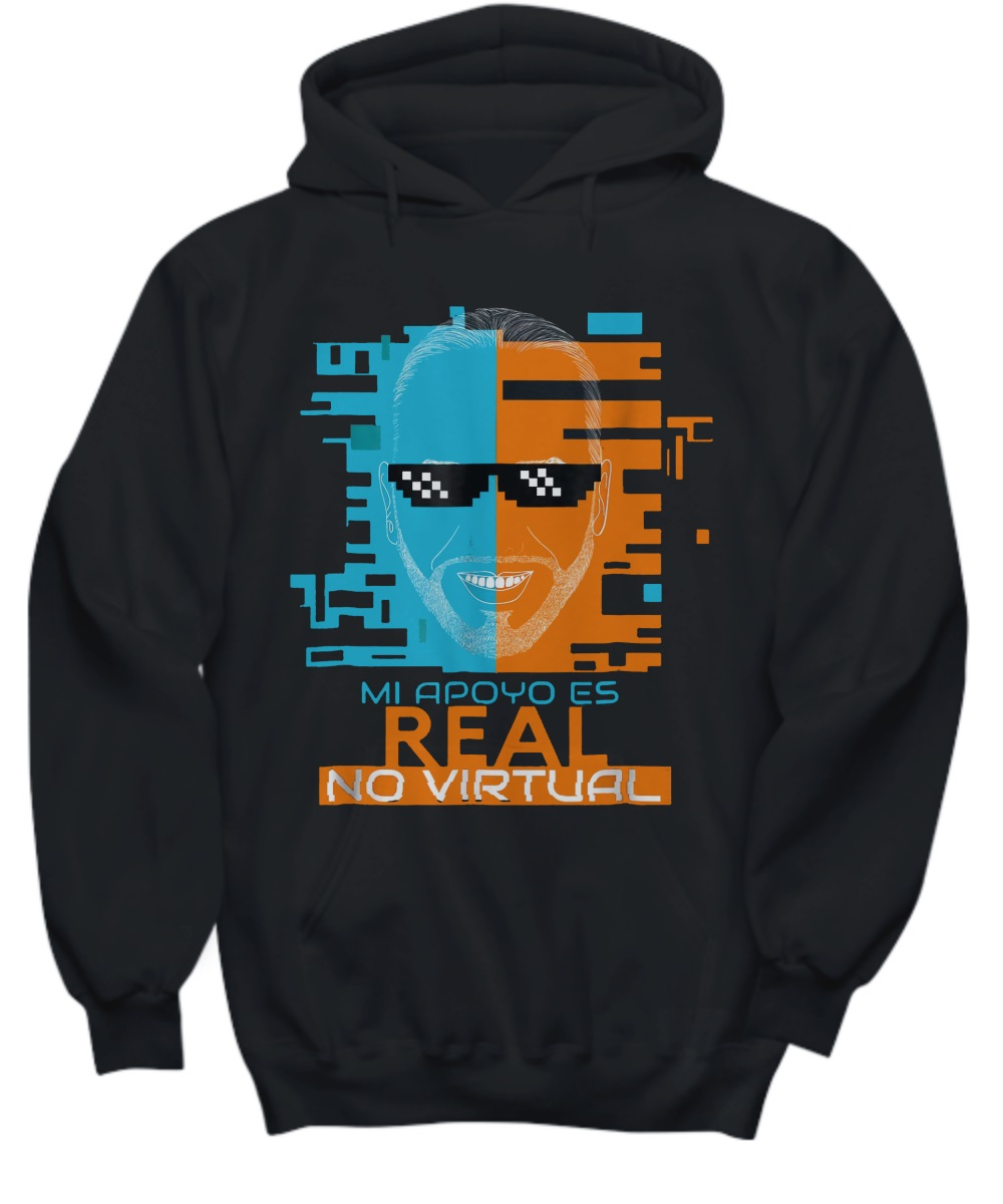 Nayib Bukele Mi Apoyo es Real No Virtual hoodie