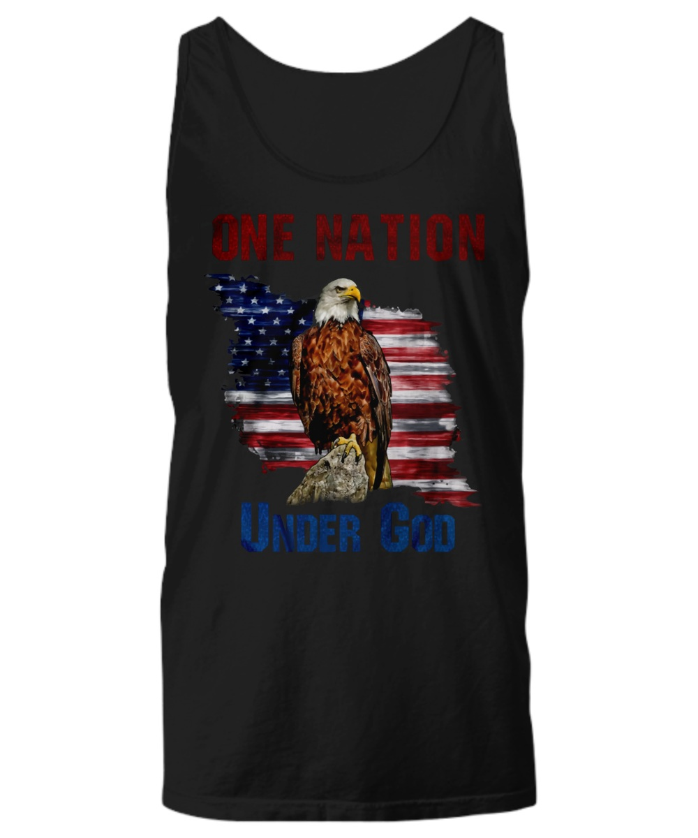 One nation under god america eagle Tank top