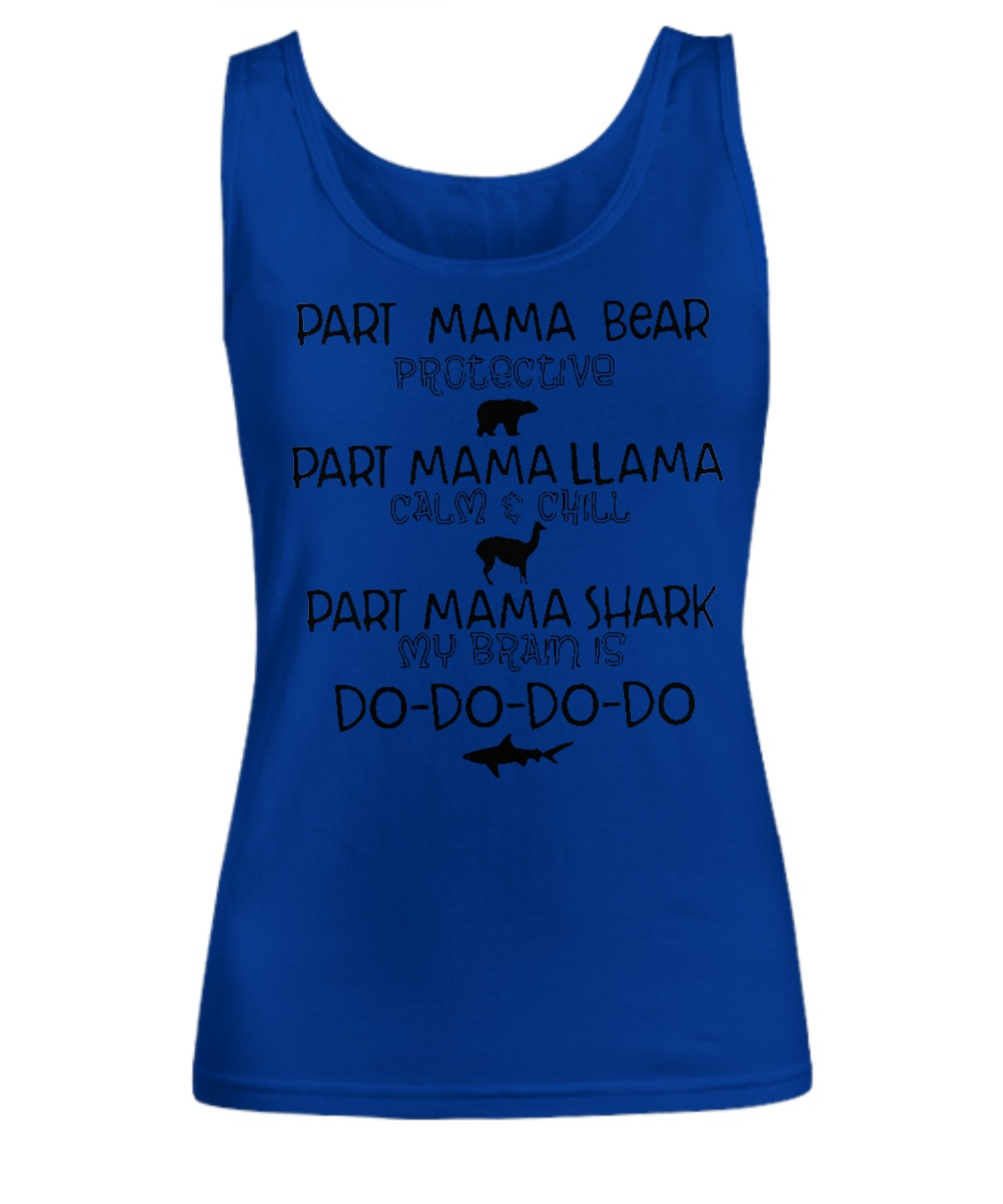 Part mama bear llama shark Tank top