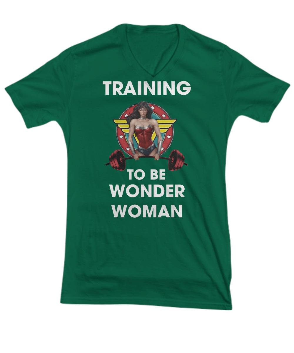Training to be wonder woman v-neck