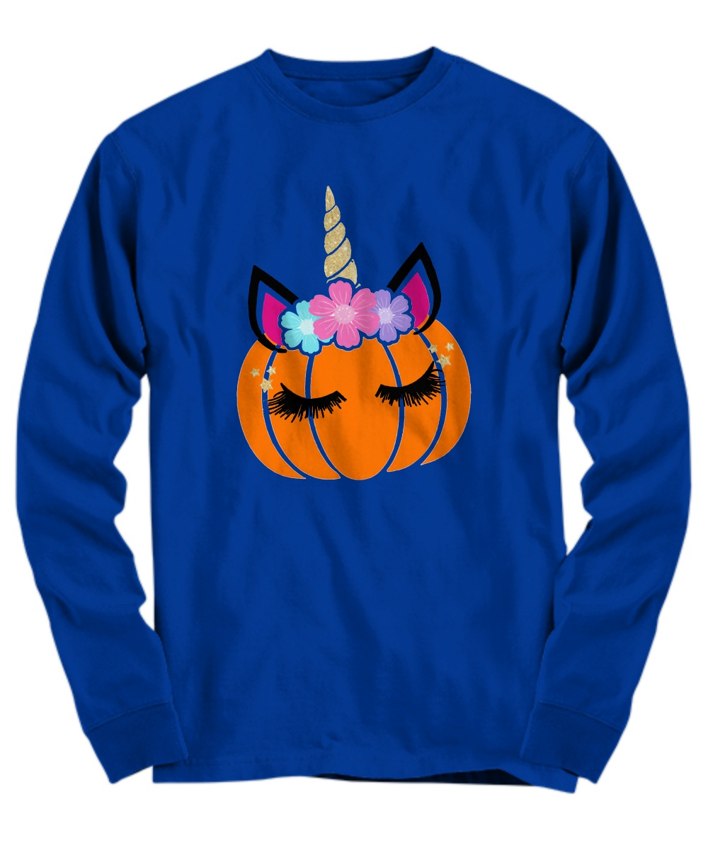 Unicorn pumpkin Halloween Long Sleeve