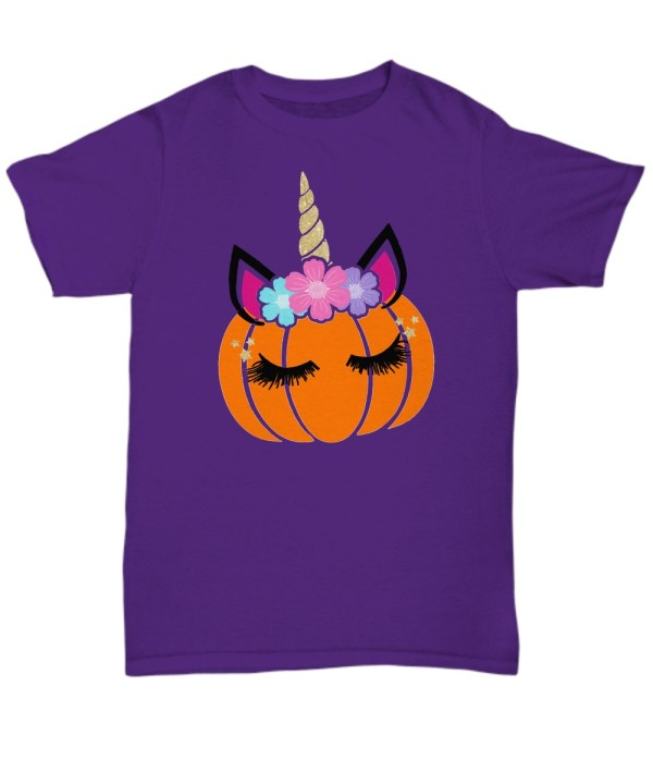 Unicorn pumpkin Halloween Shirt