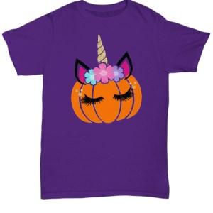 Unicorn pumpkin Halloween Shirt