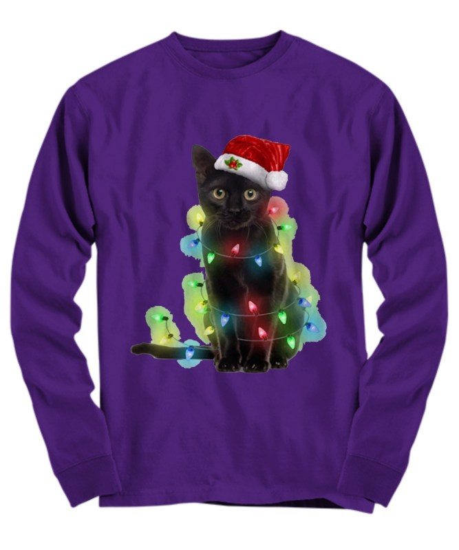 Cat light Christmas Long Sleeve
