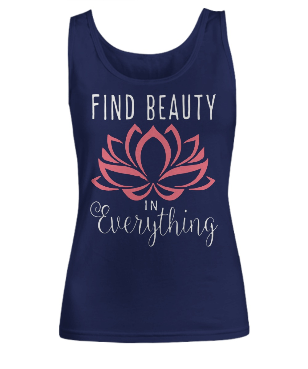 Find beauty in everything pink lotus Tank Top