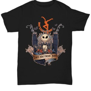 Halloween Dave Matthews Skeleton Band Shirt