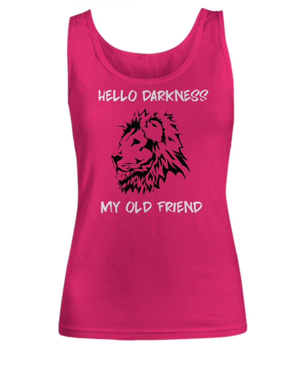 Lion hello darkness my old friend Tank top