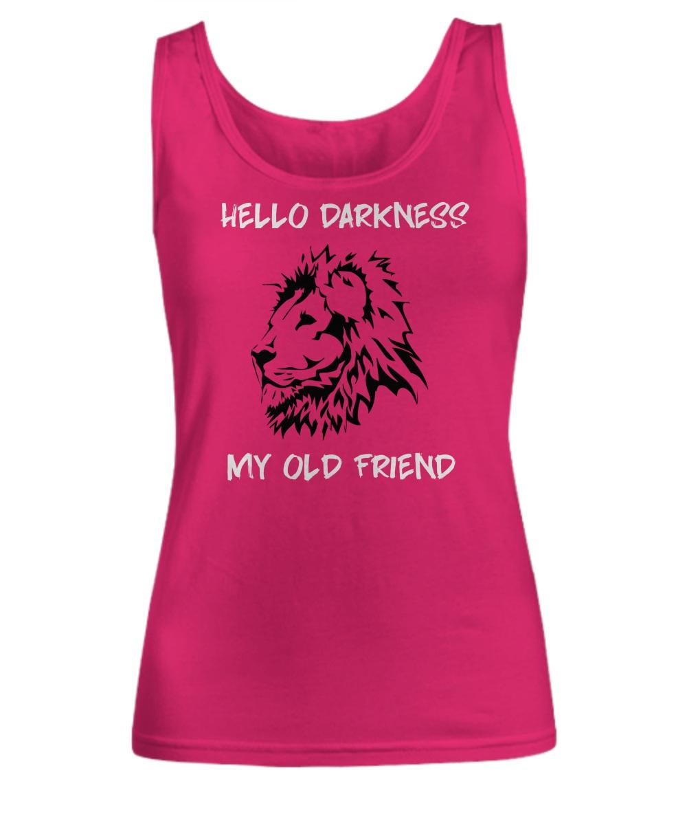 Lion hello darkness my old friend Tank top