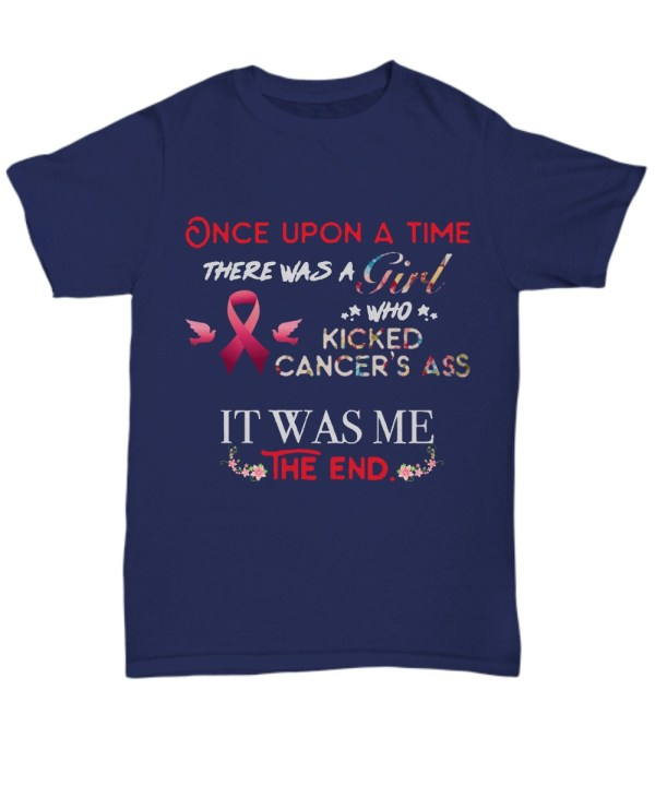 Once up a time there was a girl who kicked cancer's ass floral Shirt