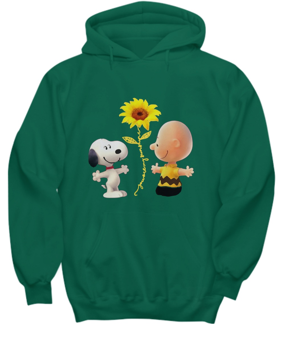 Snoopy and charlie brown you are my sunshine Hoodie