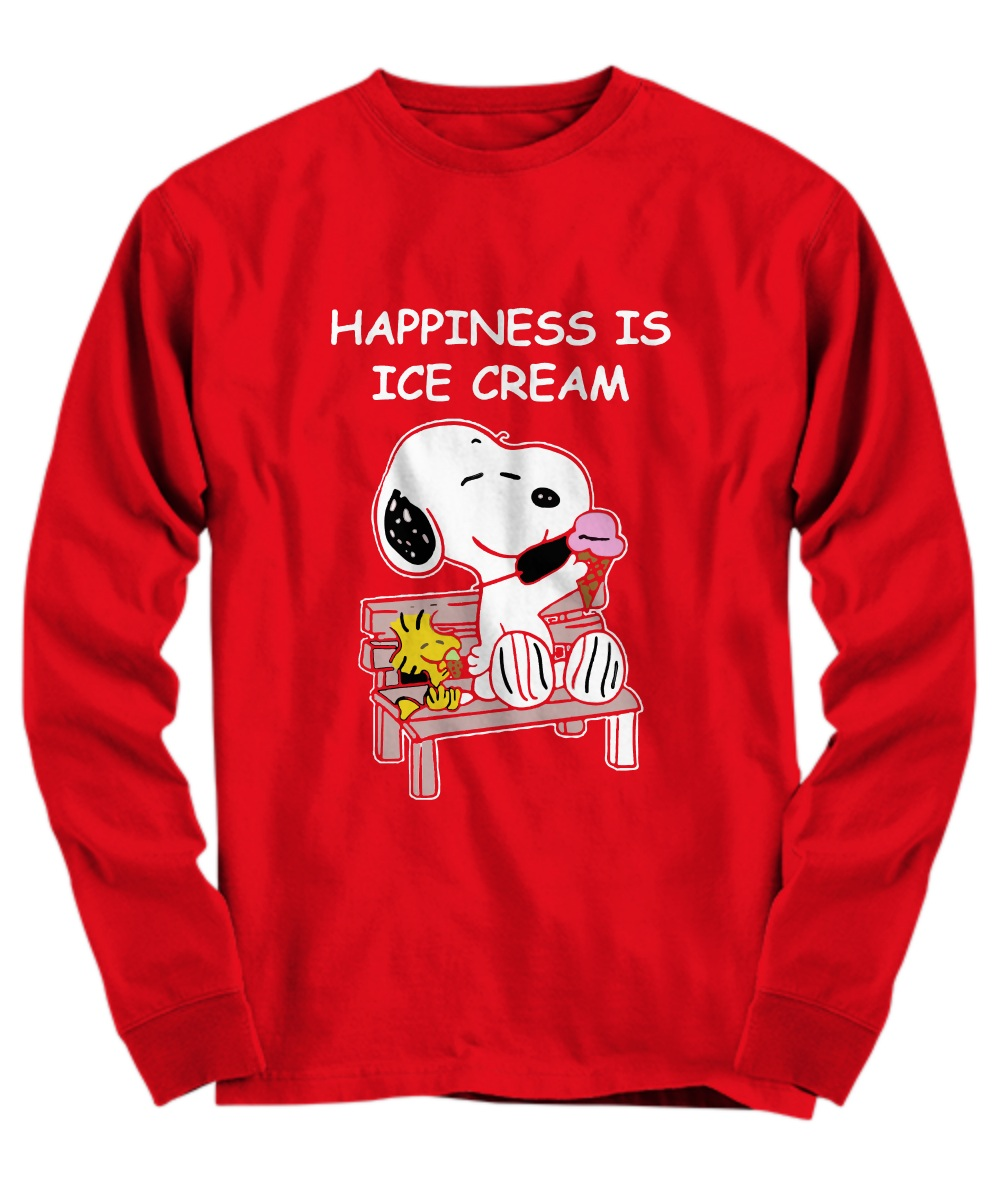 Snoopy dog happiness is ice cream Long sleeve
