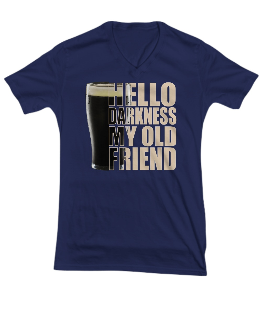 Beer Hello darkness my old friend V-neck