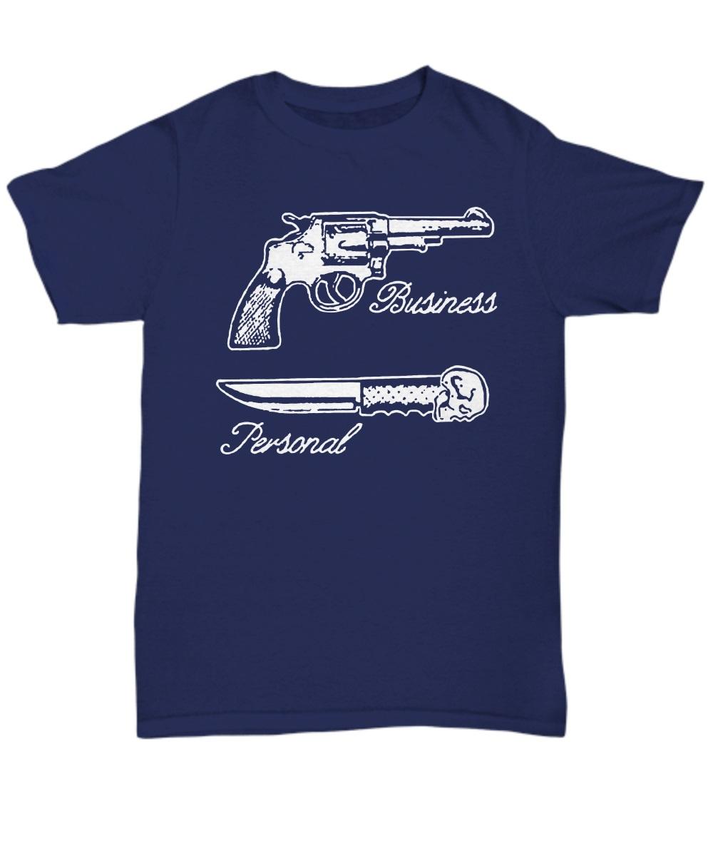 Business gun personal knife classic shirt