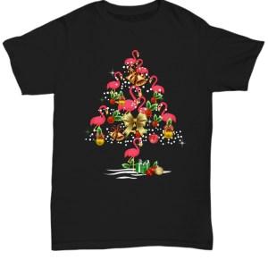 Flamingo Christmas tree Shirt