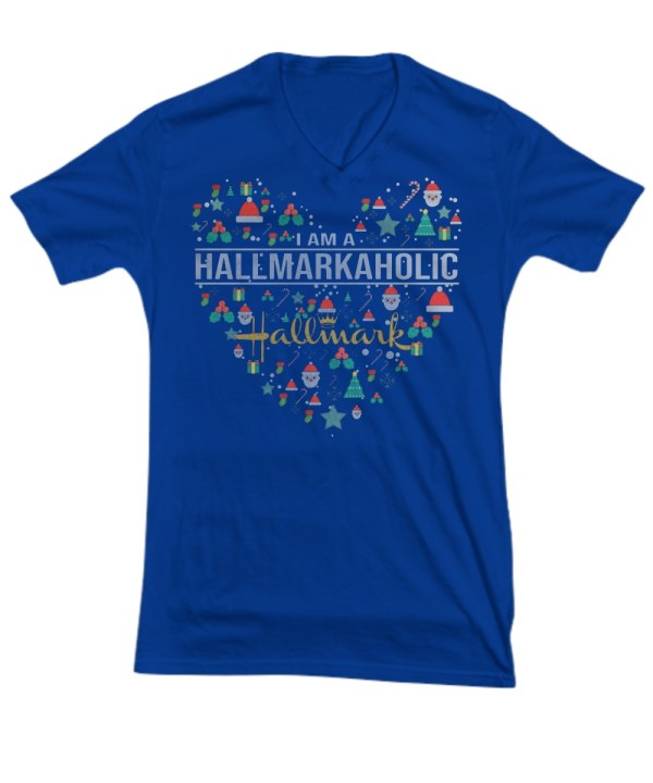I am a Hallmarkaholic V-neck