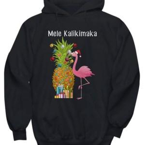 Mele Kalikimaka Flamingo Christmas hoodie