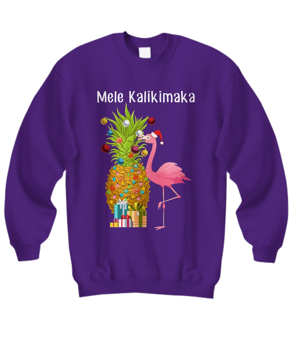 Mele Kalikimaka Flamingo Christmas sweatshirt