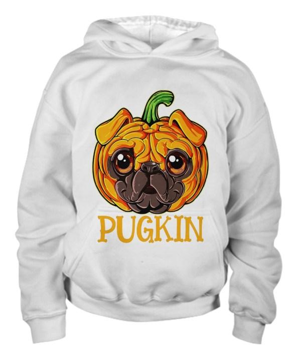Pugkin funny pumpkin hoodie