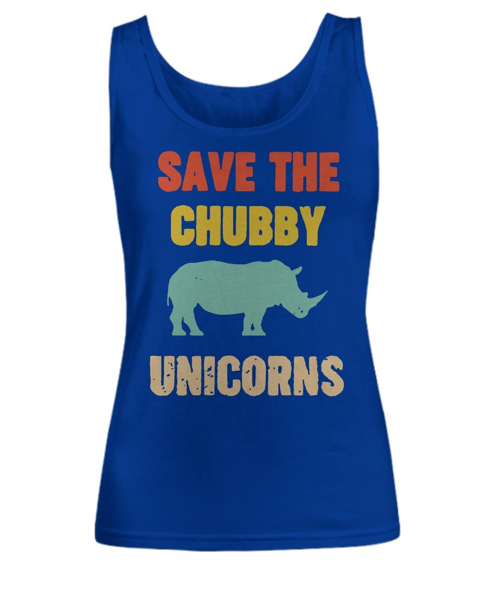 Save the chubby unicorn tank top