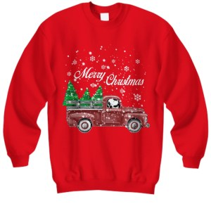 Snoopy drive red truck merry Christmas sweatshirt